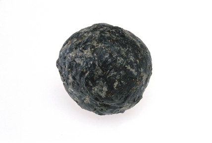 Rubber ball from Peruvian child's grave, c 1600.