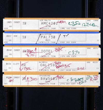 Air traffic control flight slips, July 1992.