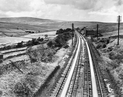 Garsdale water troughs on the Settle and Carlisle line, c.1947.