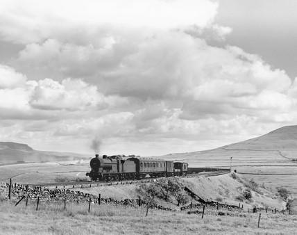 Midland Railway steam locomotive, c 1958.