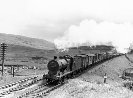 Midland Railway steam locomotive, 1955.