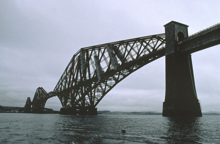 View of the Forth Bridge, January 1997.