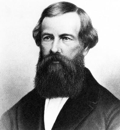 Elisha Graves Otis, American inventor, c 1850.