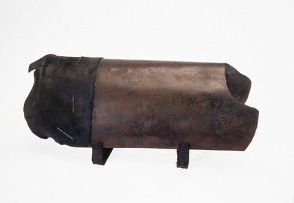 Shingler's leg-guard, late 19th century.