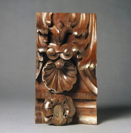 Carved wood, c 1890s.