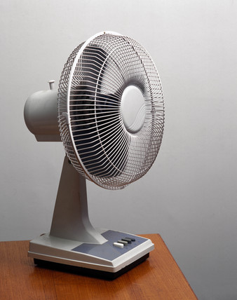 Fan on a table-top, 1997.