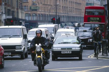 Traffic in London, 1997.