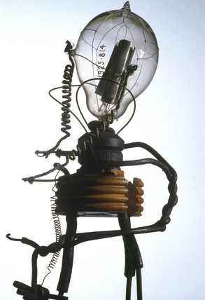 Fleming's original thermionic valve, 1889.