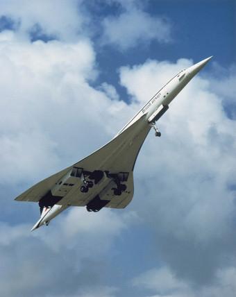 Concorde taking off, c 1970s.