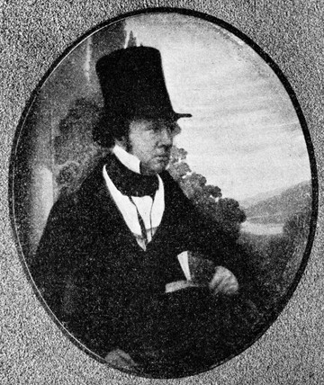 William Henry Fox Talbot, pioneer photographer, c 1840.