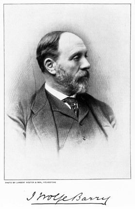 Sir John Wolfe Barry, English civil engineer, c 1890s.