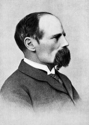 Benjamin Baker, British civil engineer and designer of the Forth Bridge, c 1880.