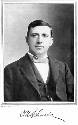 Charles M Schwab, President of the Carnegie Steel Company, c 1890.