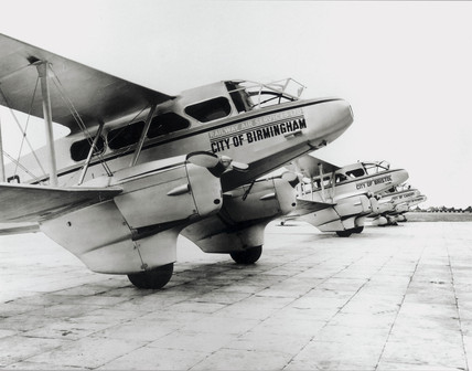 Railway Air Services aircraft at Croydon Airport, 1935.