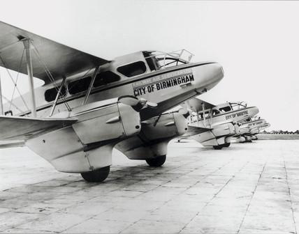 Railway Air Services aircraft at Croydon Airport, 1935.