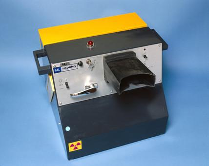 Rapidex post x-ray machine, 1983.