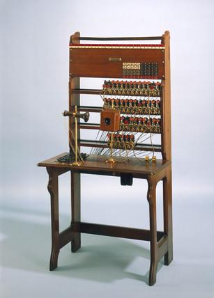 Jones 50-line switchboard, 1879.