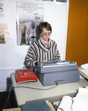 Audio-typist, c 1970s.