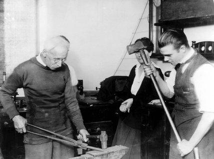R E B Crompton, English inventor, 1920s.
