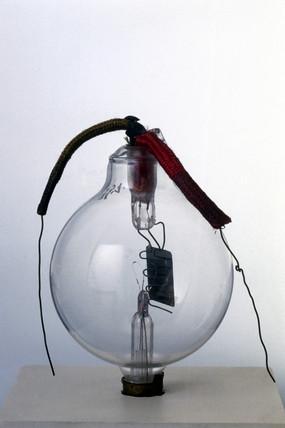 De Forest thermionic triode valve, c 1907.