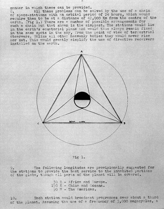 Page from the book 'The Space Station - Its Radio Applications', 1945.
