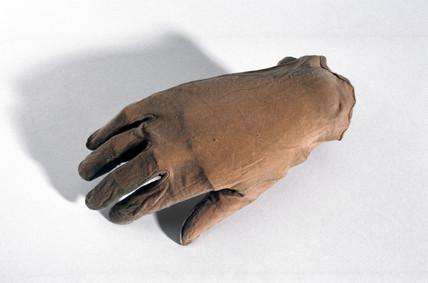 Silk inner glove, c 1932-1933.