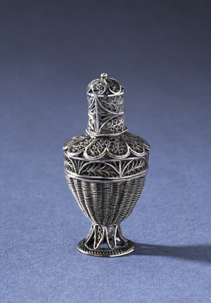 Pomander or vinaigrette, posibly Tunisian, c 1904.