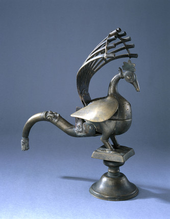 Bras incense burner, Indian, 19th century.