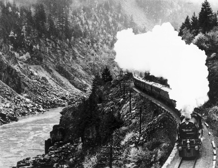 'The Royal Scot' steam locomotive, Canada, November 1933.