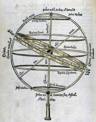 Armillary sphere, 1535.