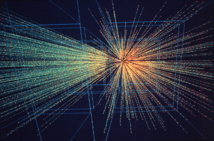 Lead ion collisions produced by the experiment NA49, 1990s.