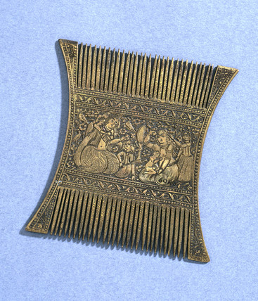 Bras comb, Persian, 1801-1910.