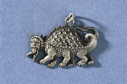 Silver amuletic pendant, 1801-1920.