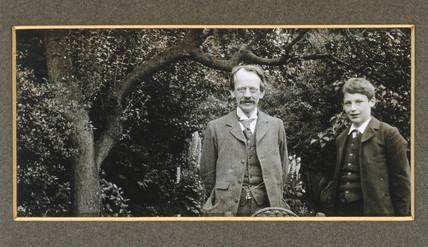 J J Thomson with his son, George, c 1909.