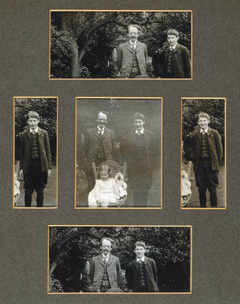 J J Thomson with his son and daughter, c 1909.