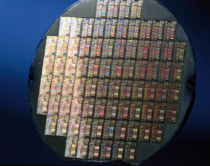 Silicon wafer, c 1996.