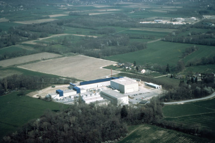 aerial view of the L3 site, CERN, 1990s.
