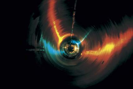 Artistic view of a superconducting magnet, 1990.