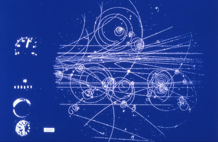 Production of particle jets by negative pions, 1990s.