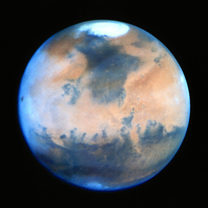 Mars photographed using the Hubble Space Telescope (HST), 1997.