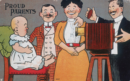 'Proud Parents', postcards, c 1890-1910.