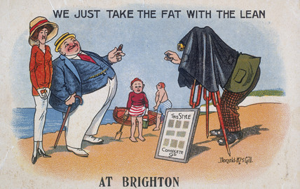 'We Just Take the Fat with the Lean, at Brighton', c 1920s.