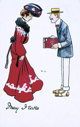 'May I take', c 1910.