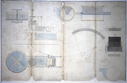 Design for a paper-making machine, 1809.