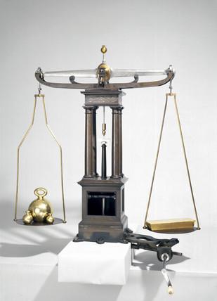 Bank of England bullion balance, devised by J Barton, 1820.