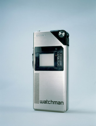 Sony Watchman 'Voyager' pocket television receiver, 1982.
