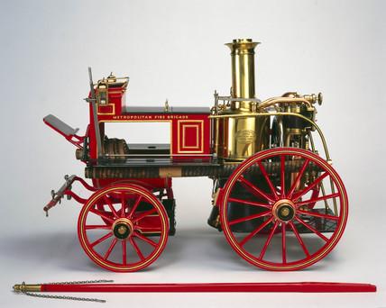 Vertical cylinder steam engine, c 1885.