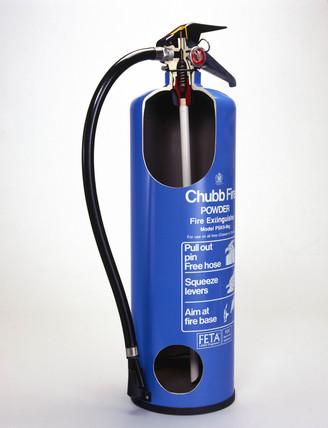 Nine kilogram Chubb fire extinguisher,  type PSK9, 1979.