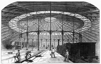 Interior of the London & North Western Rail