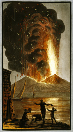 Mount Vesuvius erupting, Kingdom of Naples, 1779.